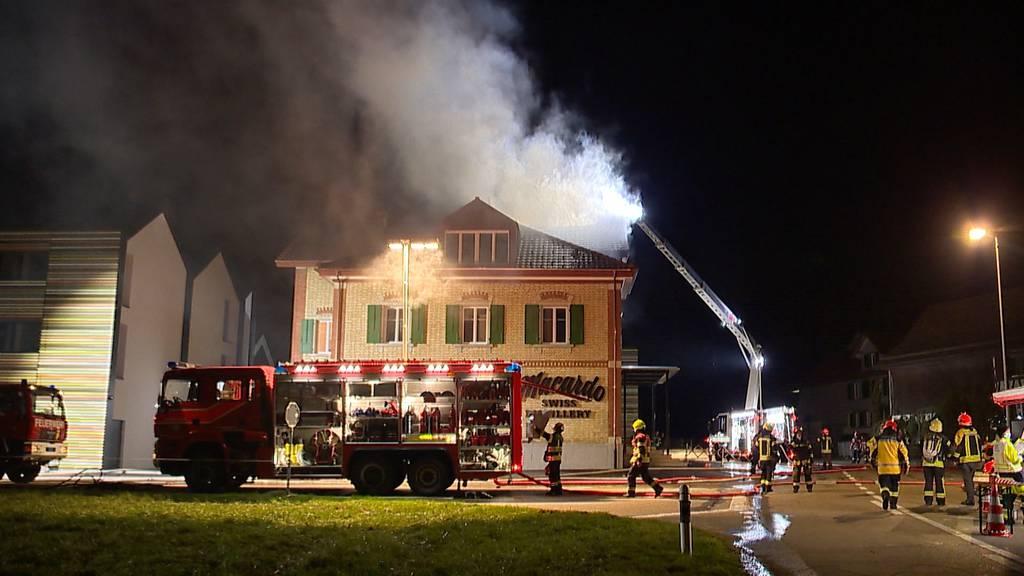 Amlikon-Bissegg (TG): Mehrere 10'000 Franken Sachschaden nach Dachstockbrand