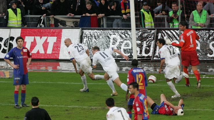 Filipescu traf am 13. Mai 2006 in der 93. Minute zum 2:1 für den FCZ, der dadurch zum ersten Mal seit 25 Jahren Meister wurde.