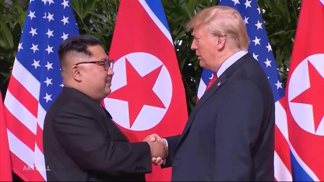 Historisches Gipfeltreffen in Singapur