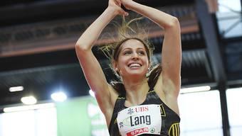 Hochspringerin Salome Lang erzielte in Karlsruhe einen Schweizer Hallenrekord
