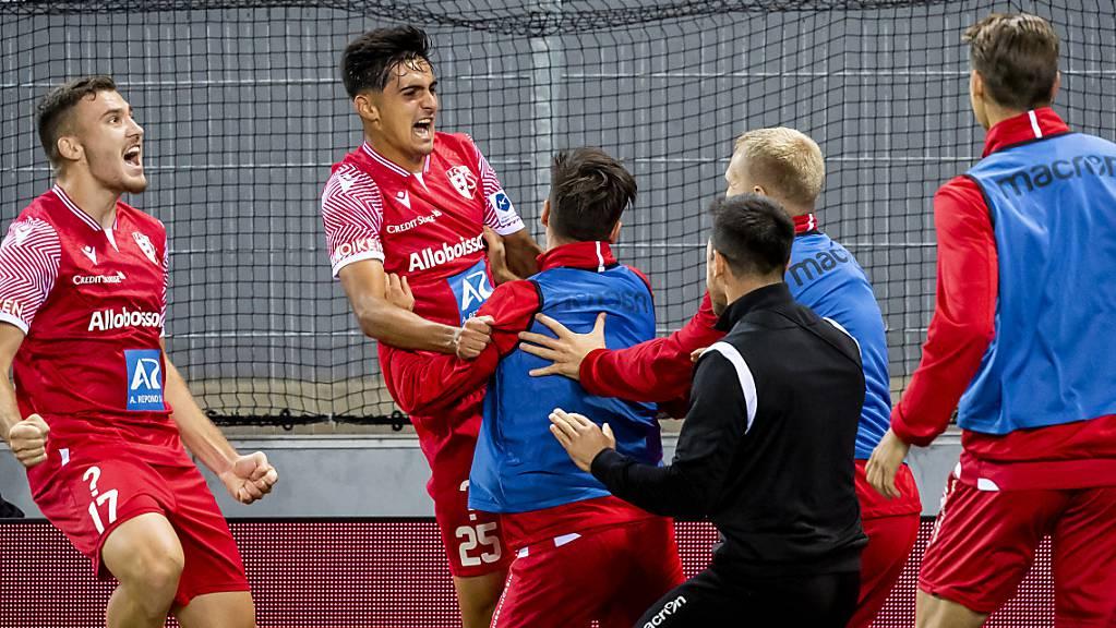 Der FC Sion darf dank Théo Berdayes gegen Angstgegner Lugano endlich wieder einmal im eigenen Stadion jubeln.