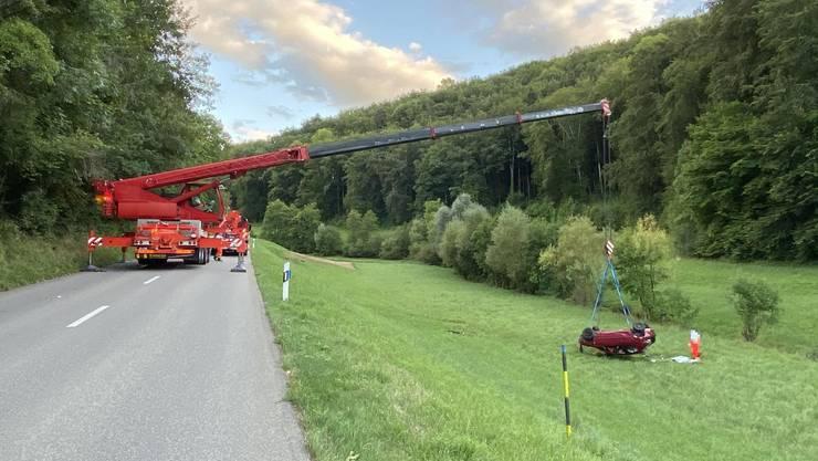 Auf der Liestalerstrasse verlor der 25-jährige Lenker die Kontrolle über sein Fahrzeug.