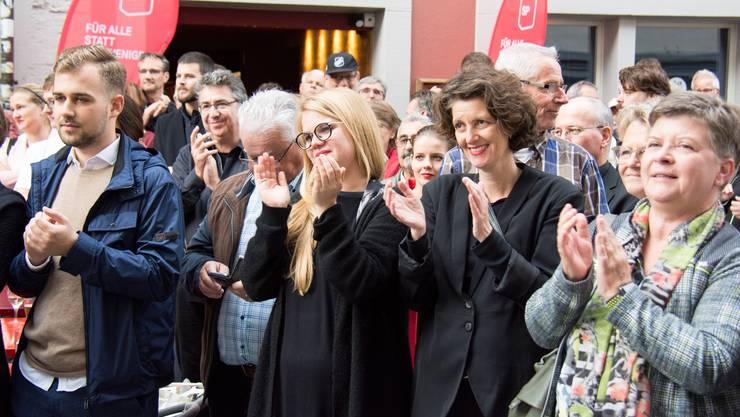 Die Sozialdemokraten feiern die Nationalrätin in der Altstadt.