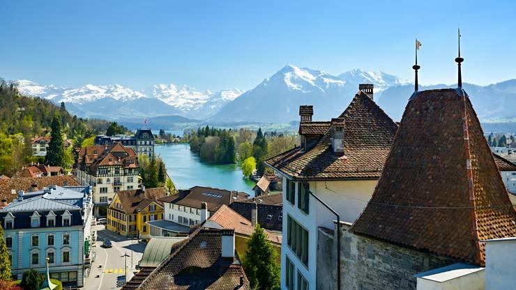 Wunderschöne Aussicht in der Schweiz.