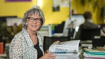 Mit 19 Jahren begann Alice Mondelli als Sekretärin beim «Aargauer Tagblatt», heute ist ihr letzter Arbeitstag.