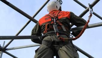 Bei ihren drei Einsätzen in Adelboden waren die Zivilschutzangehörigen unter anderem mit dem Bau der Zuschauertribüne beschäftigt.