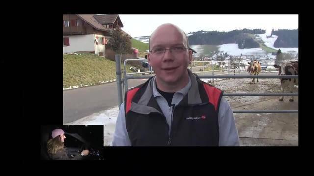 Renaud Tour mit Besamungstechniker Jöhnu