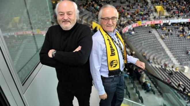 2005 eingezogen: Andy (links) und Hans-Ueli Rihs. Planen die milliardenschweren Velofreunde den YB-Exit? Foto: Urs Lindt/freshfocus