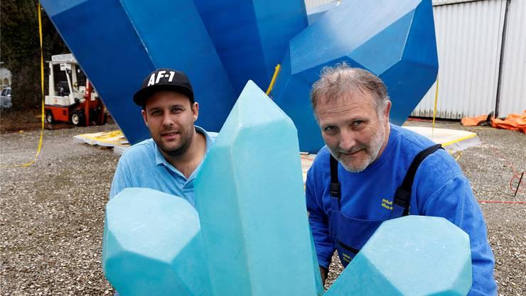 Spezialisten für Spektakuläres: Thomas (l.) und Peter Probst.