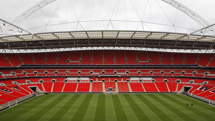 Das Wembley Stadium in London.