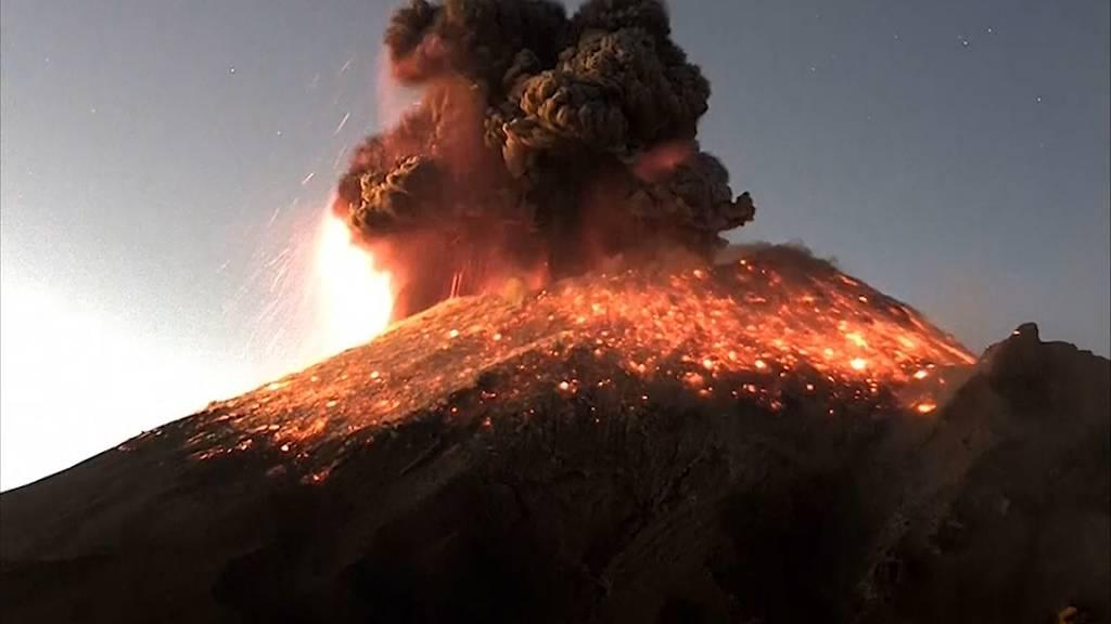 Spektakulärer Vulkanausbruch in Mexiko