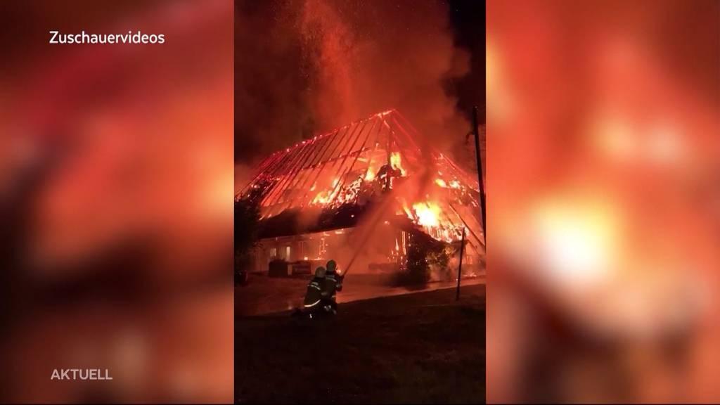 Golf-Clubhaus Aetingen komplett zerstört
