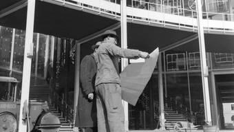 Bis über den Zweiten Weltkrieg hinaus wirtschaftete die Messe während 30 Jahren defizitär: Rundbau im Jahr 1954.