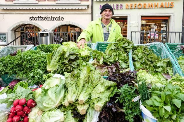 Ab Samstag kann auf dem Badener Wochenmarkt wieder eingekauft werden.