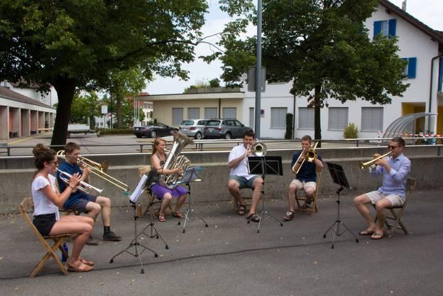 Brass-Ensemble am 1. August Treffen.