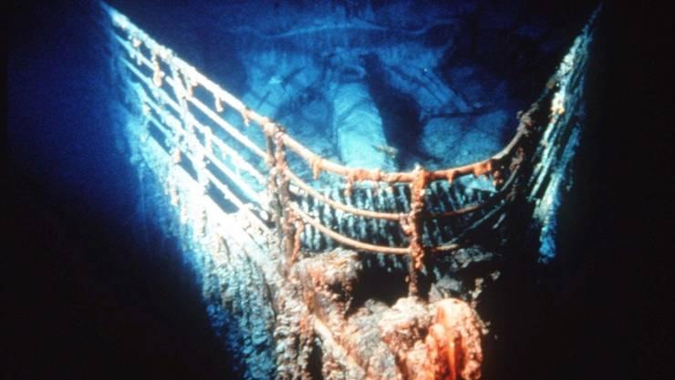 """Das Wrack der """"Titanic"""" wurde 1985 rund 650 Kilometer vor der kanadischen Küste auf dem Meeresgrund entdeckt. (Archivbild)"""