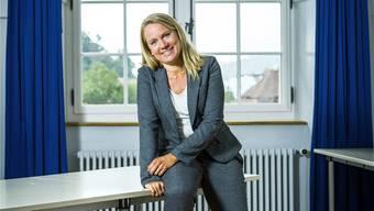 Lis Lüthi in ihrem künftigen Büro im Schloss in Schöftland. Chris Iseli
