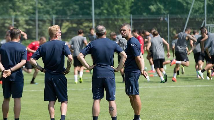 Lugano-Coach Fabio Celestini (rechts) erhält eine neue Kraft im Sturm
