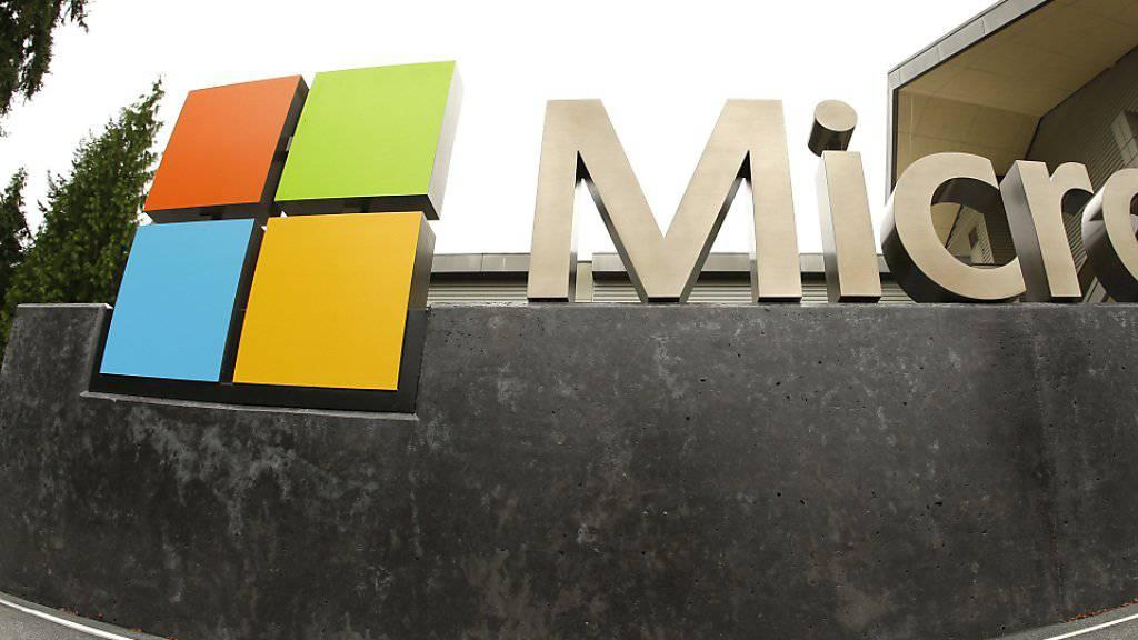 Es läuft rund für Microsoft: Der Computer-Riese verzeichnete im vergangenen Quartal einen Gewinn von 3,1 Milliarden Dollar. (Archivbild)