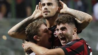 Jubel bei der AC Milan - der Start in die Saison ist geglückt