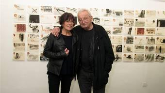 Annemarie Laner und Schriftsteller Peter Bichsel.