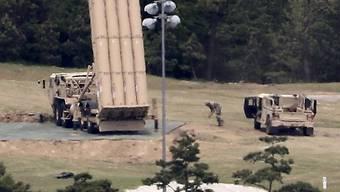 Das US-Raketenabwehrsystem THAAD wurde im Frühling auch in Südkorea installiert. (Archivbild)