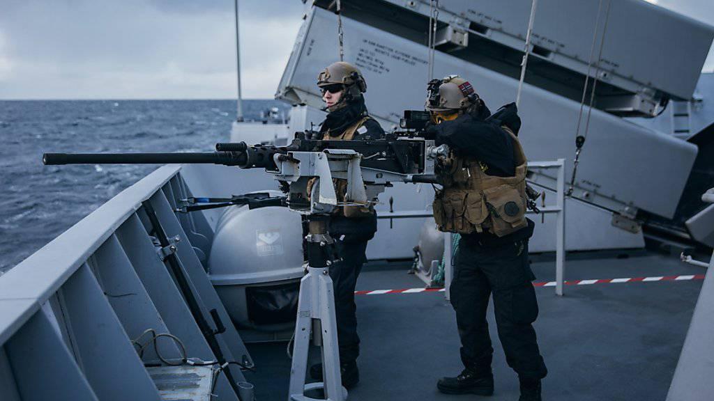 Grösstes Manöver seit dem Kalten Krieg angelaufen: Norwegische Marinesoldaten an der Übung «Trident Juncture 18».