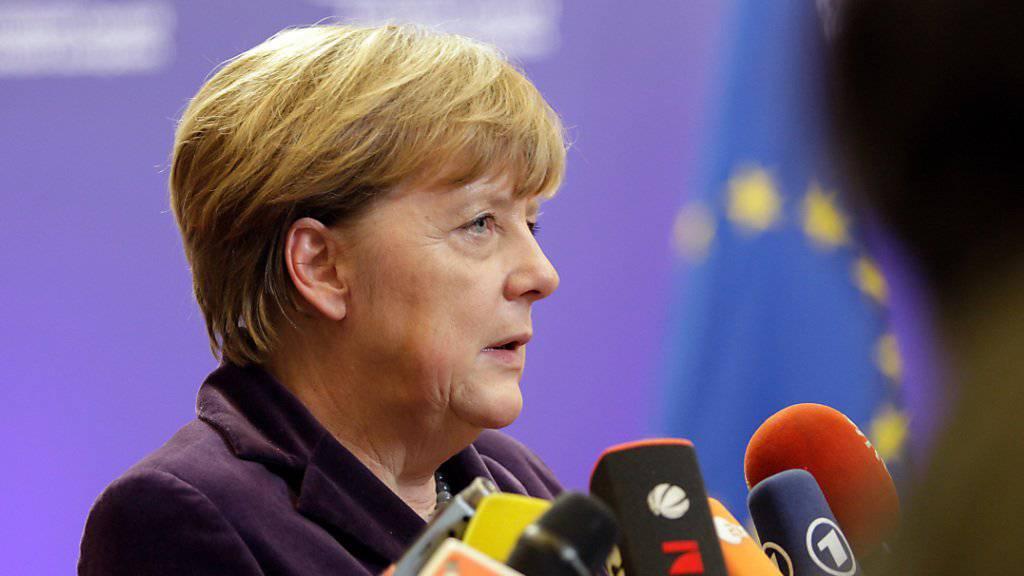 Die deutsche Kanzlerin Angela Merkel erhofft sich am EU-Gipfel in Brüssel substanzielle Fortschritte in der Flüchtlingsfrage.