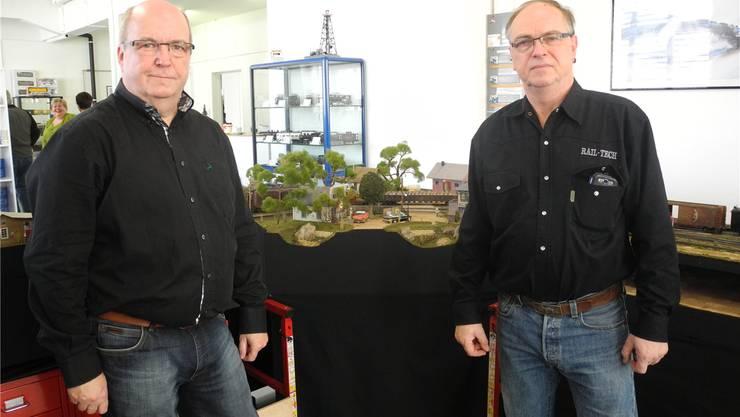 Roland Christoph (links) und Ulrich Germann sind Spur-0-Fans. at.