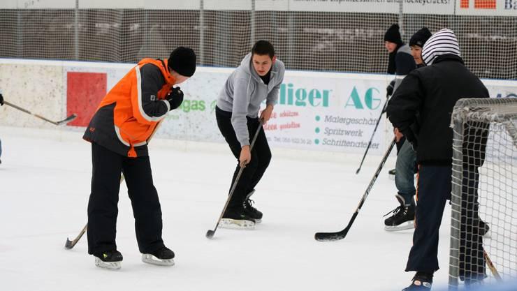 In weissen Wintern läuft die Eisbahn besser