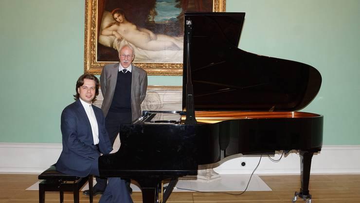 Jacob Katsnelson (l.) und Roger Kaysel in der Villa Boveri.Ursula Burgherr