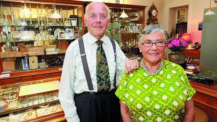 Eine Institution: Paul Lambelin und Jeannette Rauber-Lambelin. (HR. Aeschbacher)