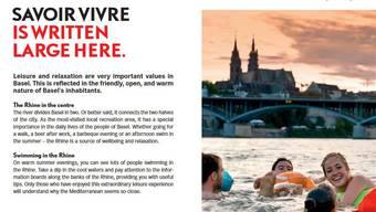 In der englischen Broschüre von Basel Tourismus findet sich der eine oder andere Helvetismus.