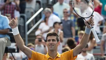 Standesgemäss im Final: Novak Djokovic