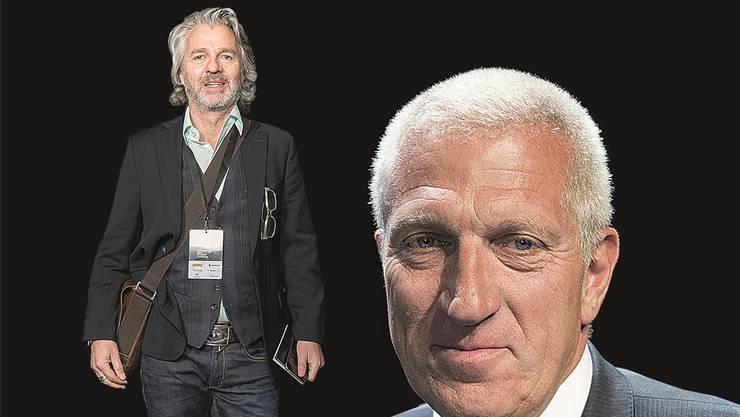 In Untersuchungshaft: Beat Stocker  (links, von 1999 an CEO der Aduno) und Pierin Vincenz, Chef der Raiffeisen und von 1999 an Präsident von Aduno.