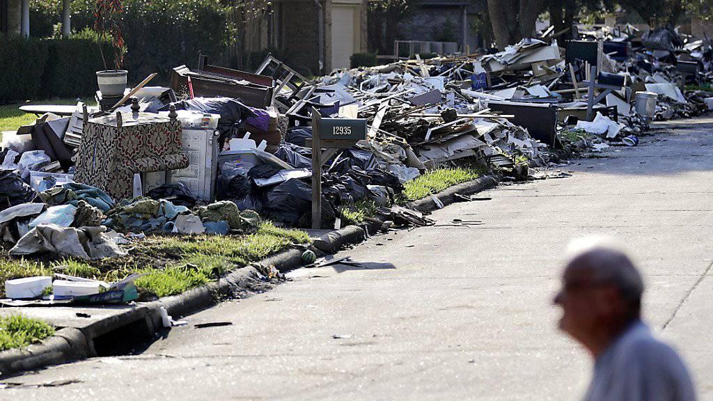 Wirbelsturm Harvey - der in Texas gewütet hat - beschert den Rückversicherern hohe Schadensummen. (Archiv)