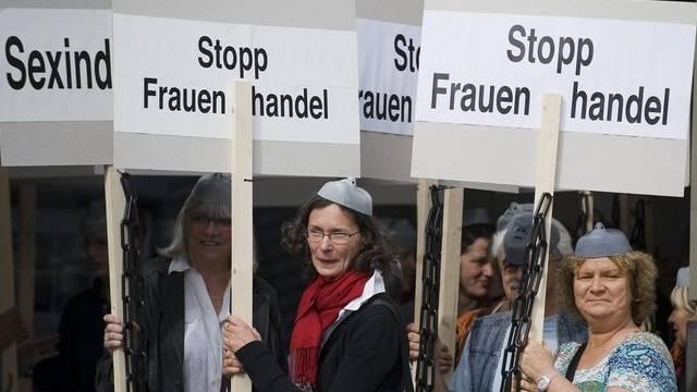 Protest gegen Menschenhandel in Bern (Archiv)