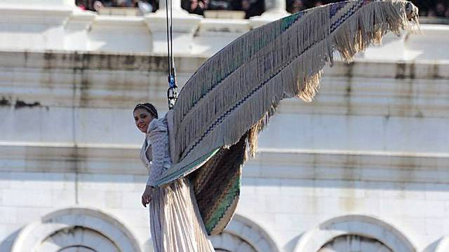 Engelsfrau über dem Markusplatz