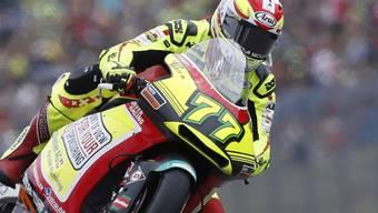 Dominique Aegerter unterwegs auf seiner KTM im Moto2-Rennen in Brünn