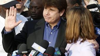 Rod Blagojevich mit seiner Frau im März 2012, kurz bevor er seine Haftstrafe angetreten hatte. (Archiv)