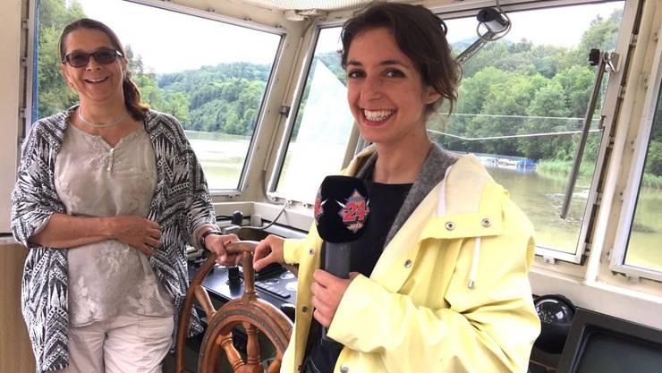Céline wird Captain auf der Rhenus.