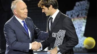 Roger Brennwald und Roger Federer