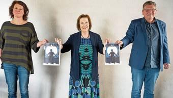 Blicken optimistisch in die erste Spielzeit der Bühne Aarau: (v. l.): Geschäftsführerin Barbara Stocker, Präsidentin des Vereins Arta, Christine Egerszegi und Theaterleiter Peter Kelting.