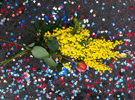 Nach dem Stopfen die Belohnung: Mimosen und Rosen.