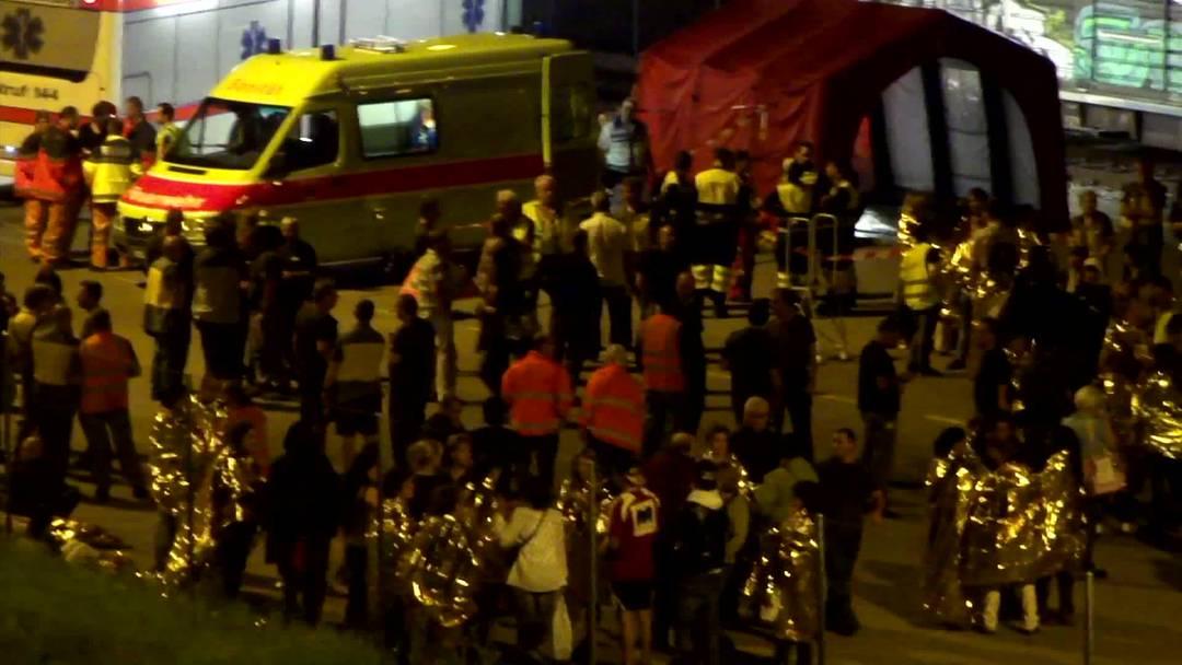 Evakuierung im Postzentrum in Mülligen