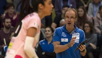 Sm'Aesch-Trainer Andreas Vollmer überlässt nichts dem Zufall, damit seine Spielerinnen den Cupsieg holen.