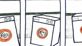 Eine Waschmaschine, die sich nach Gesellschaft sehnt: Mit diesem Comic gewann Natalia Sajewicz den ersten Preis des Fumetto-Comic-Wettbewerbs.