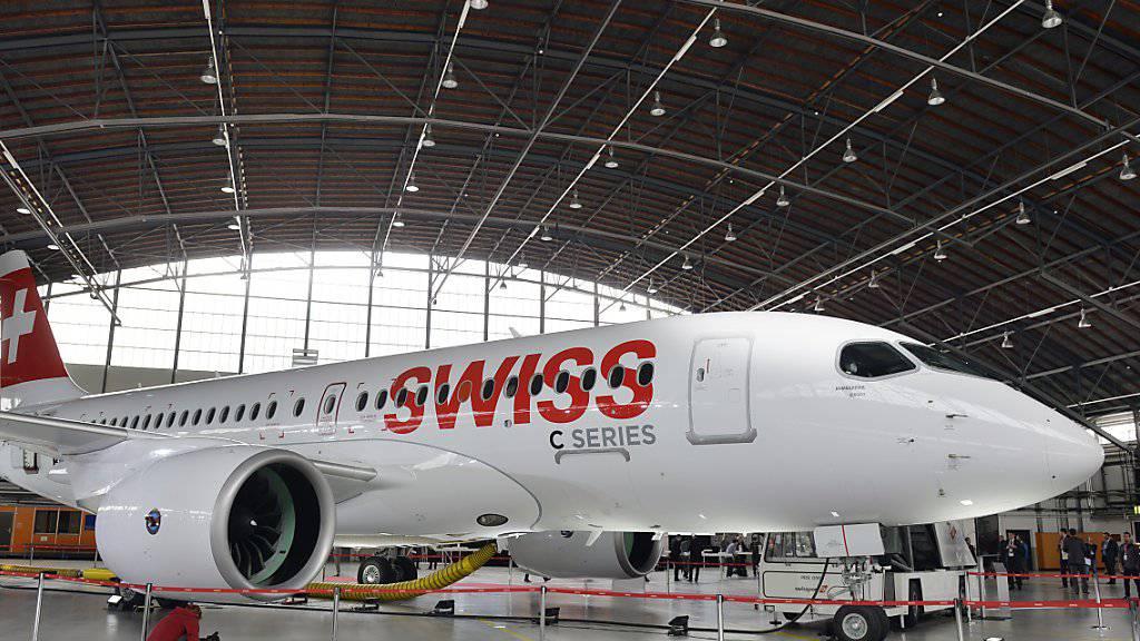 Auch die Swiss ist Kunde: Das Schmalrumpf-Flugzeug CS100 des kanadischen Herstellers Bombardier. (Archivbild)