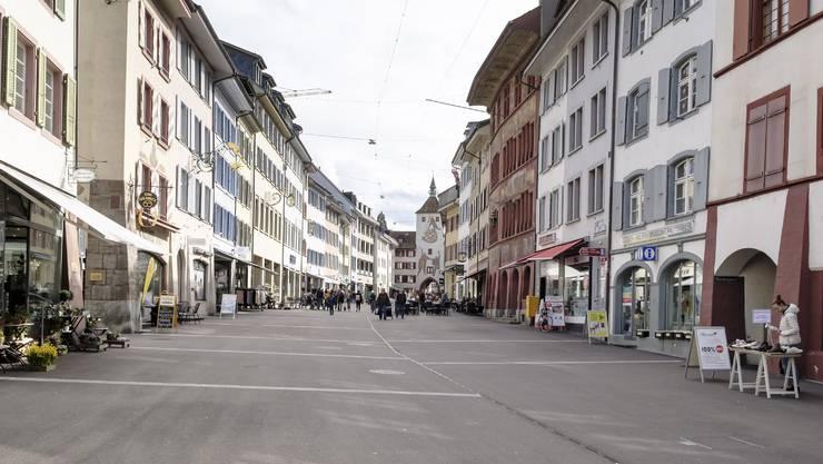 Schon vergangene Woche waren in Liestal kaum Menschen unterwegs – bald werden es noch weniger sein.