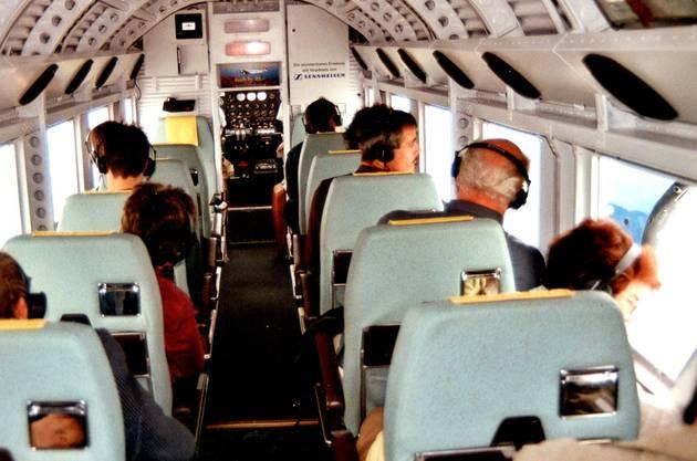 Dieses Foto von Peter Brotschi zeigt den Passagierraum der «Tante Ju».